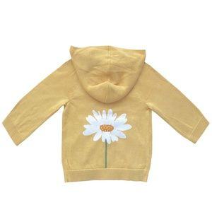 Kid's Amber Hagen Daisy Zip-up Sweater 12-18M